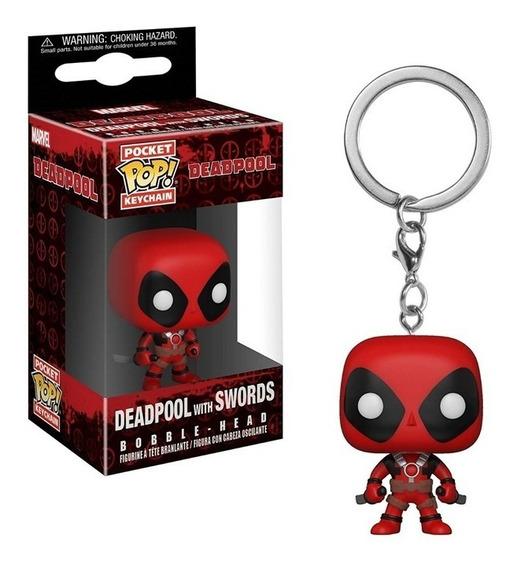 Llavero Funko Pop Deadpool With Swords - Marvel