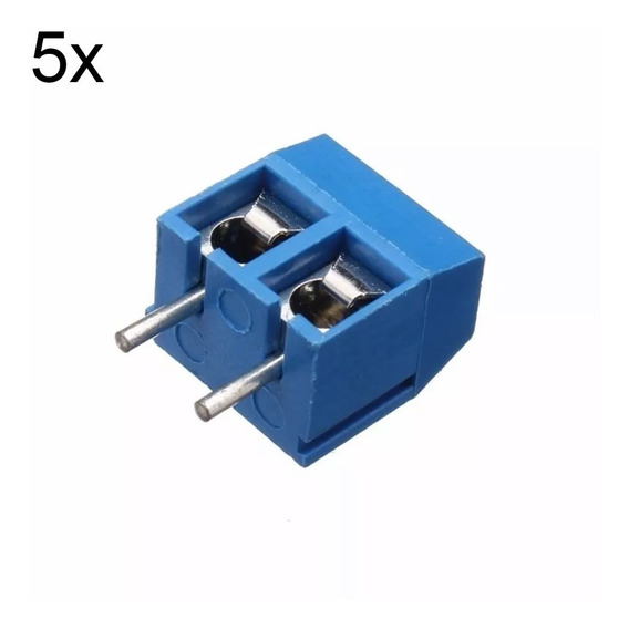 5 Peças Conector Borne Kre Kf301 2 Vias C/ Parafuso Arduino