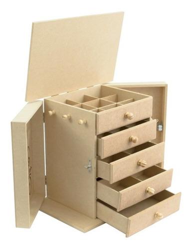 Imagem 1 de 4 de Estojo Organizador Porta Jóias, Bijuterias, Relógio, Batom