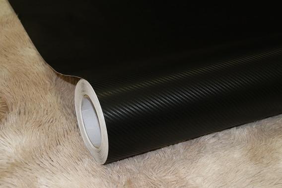 Adesivo Envelopamento Carbono Fosco Automotivo 3d 1mx50cm