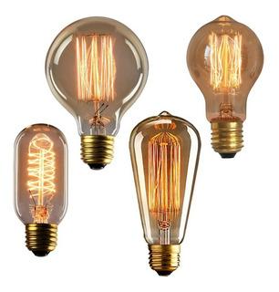Lâmpada Vintage Retrô - Thomas Edison - Filamento De Carbono