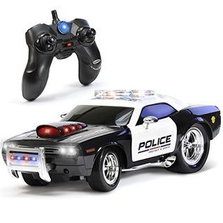 Carro A Control Remoto Kidirace De Policia Recargable