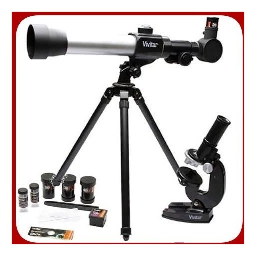 Kit Telescópio Vivitar 60/120x Microscópio 60x/1200x Mic20