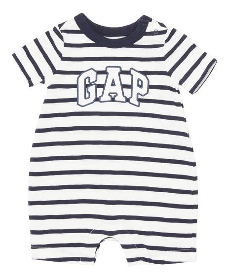 Ropa Bebé Pañalero Manga Corta Logo Estampado 444578 Gap