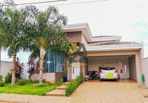 Imagem 1 de 23 de Casa Térrea Nova Á Venda Em Condomínio, Com Churrasqueira E Móveis Planejados - Aceita Permuta - Araras Sp - Ca14548