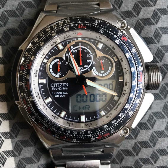 Citizen Super Chronograph Eco Drive Gn - 4s U 706 Solar