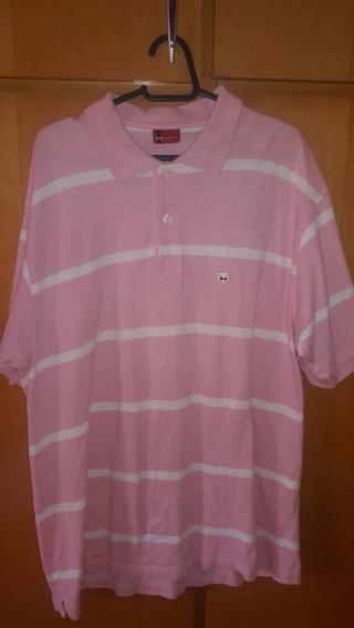 Camiseta Nacional Polo Highstil Rosa Tamanho G