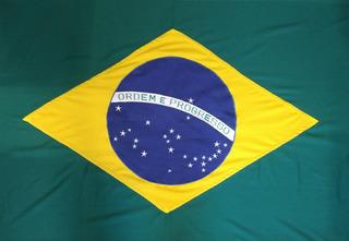 Bandeira Do Brasil Oficial Bordada 2,5 Panos Alta Qualidade
