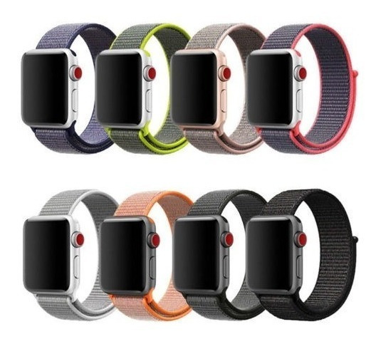 Pack De 2 Correas Nylon Extensible Apple Watch 38 Y 42mm