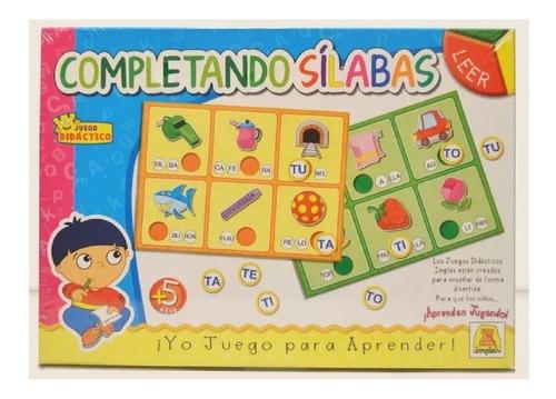 Imagen 1 de 3 de  Completando Silabas Implas Didactico Juego Mesa Art.316 Edu