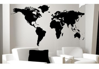 Mapa Mundi Gigante Para Pared Cuadro Mapa Mundi Decoración