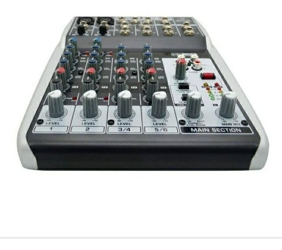 Mesa De Som Behringer Xenyx Q802 Usb Phantom Power + Nf