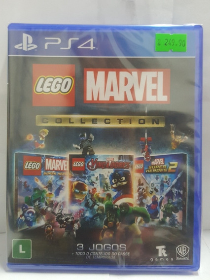 Jogo Ps4 Lego Marvel Collection Novo Lacrado Mídia Fís 3 Jg