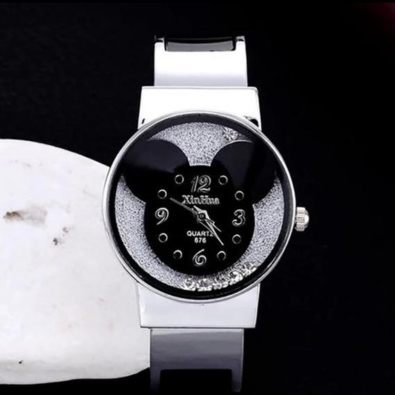 Relógio Bracelete Mickey Mouse Criança E Adultos Nova Moda