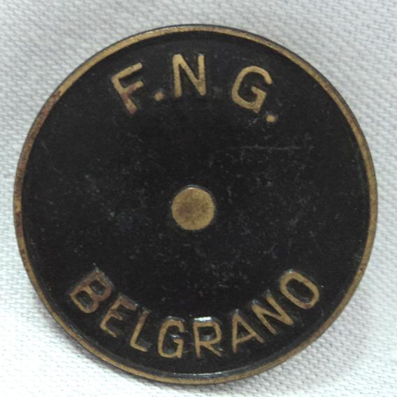 Antiguo Pin Solapero Ferrocarril Belgrano F.n.g.