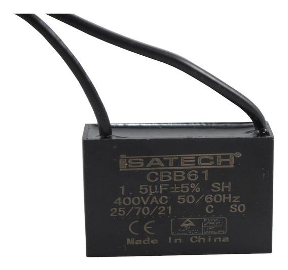 Capacitor Marcha Cuadrado 1,5uf 400v 50/60hz Isatech