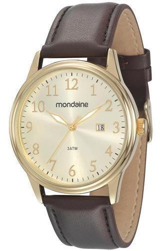 Relógio Masculino Analógico Mondaine 83284gpmvdh1 Marrom