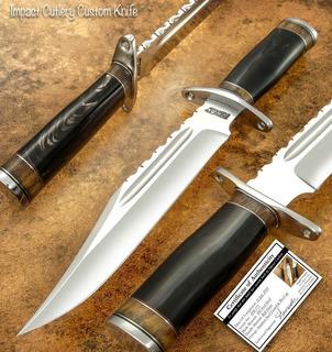 Faca De Caça Artesanal (impact Cutlery) Tipo Bowie Aço D2 Tool Steel.