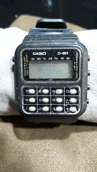 Sucata Relógio De Pulso Casio C-080