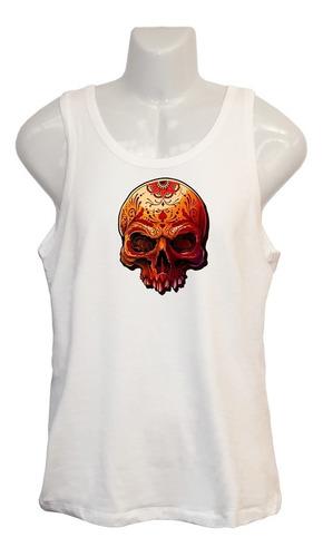Polera Skull Tribal - Musculosa - Vinilo Sublimable