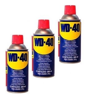 Kit Desengripante Com 3 Spray 300ml Wd-40
