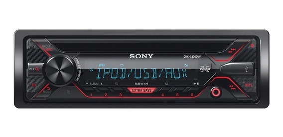 Som automotivo Sony CDX G3200UV preto