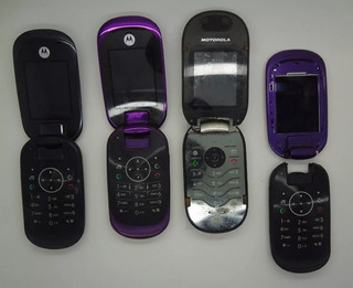 Lote C/ 4 Celulares Motorola U6 U9 C Defeito Reparo Ou Peças