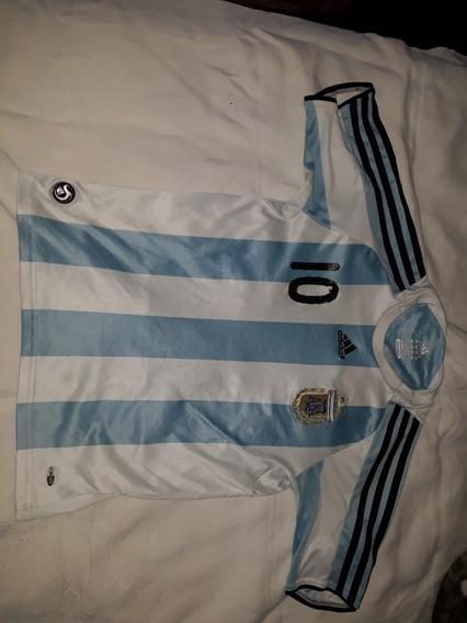 Camiseta Selecc.argentina 2008 Num10 Riquelme Niño12 Origi