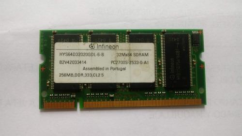 Memoria Ram Sodimm Ddr 256mb 333mhz Infineon Pc2700s