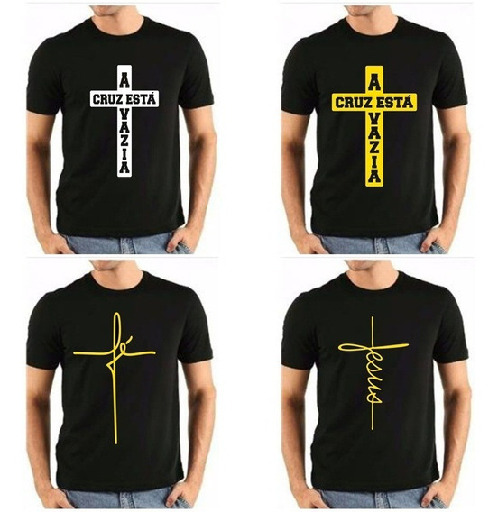 Camisas Evangelicas Masculina Kit 5 Estampas Exclusivas