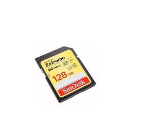 Cartao Memoria Sandisk Sdxc Extreme C10 U3 4k 90mb/s 128gb