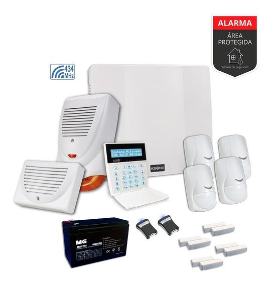 Alarma Para Casa Sensor Magnetico Y Contr Remot Kit-cableado