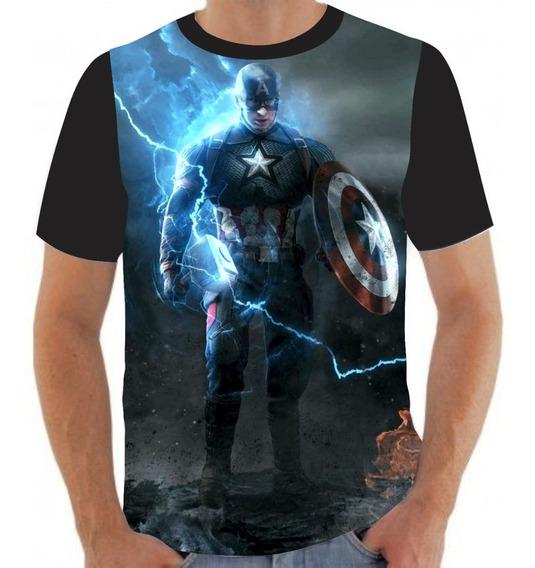 Camiseta Camisa Capitão América Martelo Thor- A62