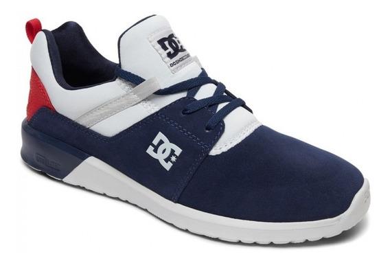 Zapatilla Dc Shoes Heathrow Azul Talón Rojo 1192112095c