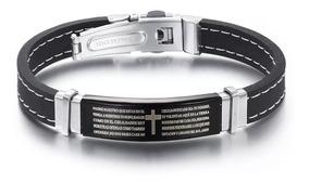 Frete Grátis Pulseira Bracelete Oração Pai Nosso 316l