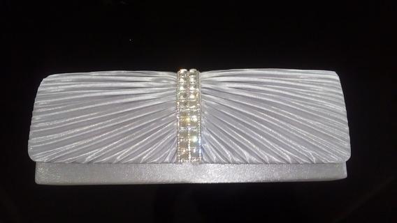 Sobre De Dama Color Plata Con Diamantes