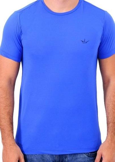 Camiseta Mascolina Dri Fit 100% Poliamida Azul