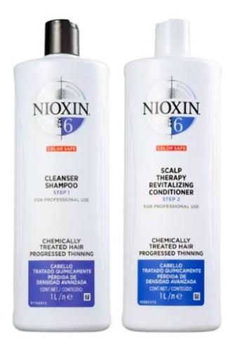 Nioxin Sistema 6 Kit Shampoo 1000ml + Condicionado 1000ml