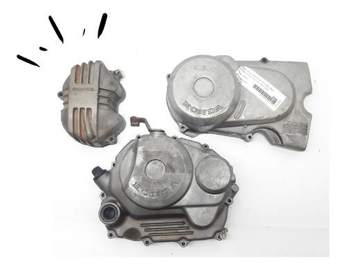 Imagem 1 de 6 de Tampas Motor Cg 125 Até 99 Originais Honda Peças Usadas (3)