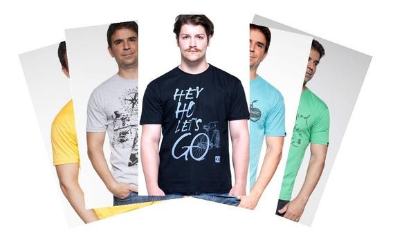 Camiseta 100% Algodão Adventure 5 Unidades Masculina