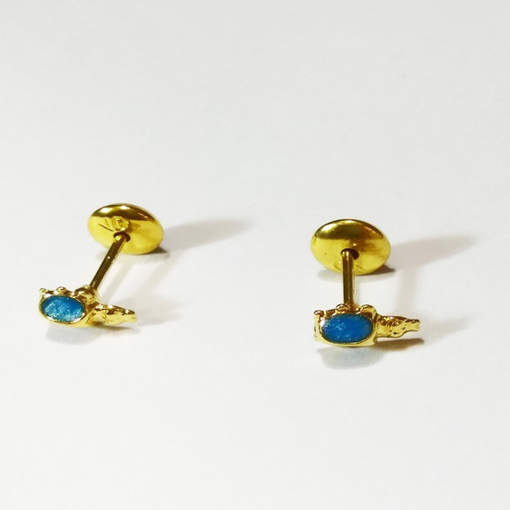 Aros Abridores Oro 14k Gold Filled Vaquitas De San Antonio