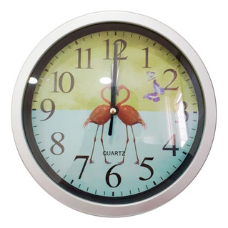 Reloj De Pared Plástico Grande Decoración 20 Cm