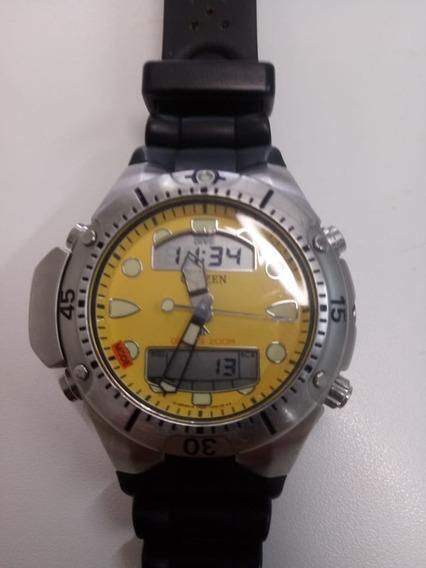 Relógio Citizen Aqualand Diver 200m Mostrador Amarelo