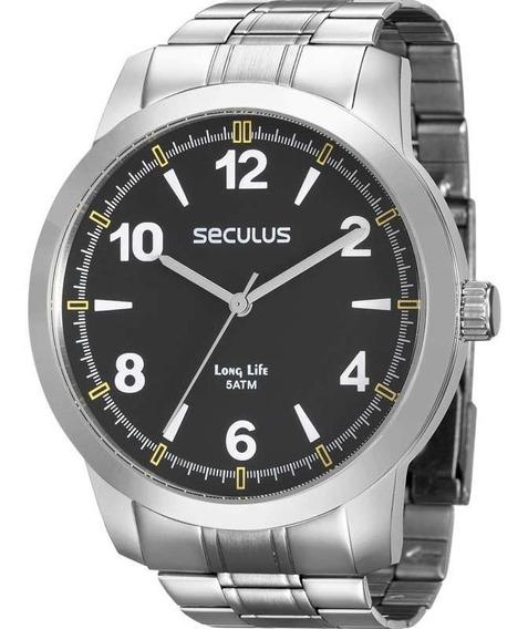 Relógio Prateado Masculino Seculus 28828g0svna1