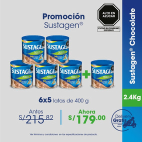 Promo 6x5 En Sustagen® Chocolate - 400 G