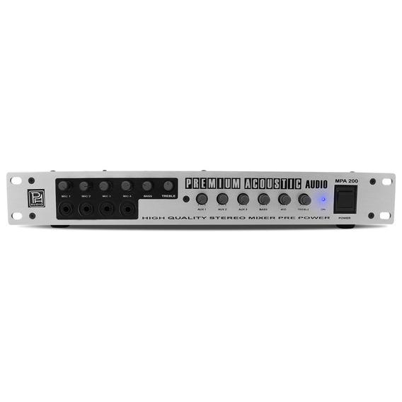 Amplificador Pré Power Mixer Mpa 200 Premium Acoustic