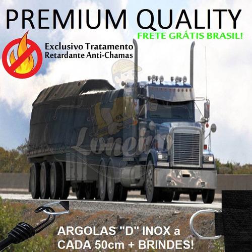 Imagem 1 de 6 de Lona Para Caminhão Anti-chama Premium Emborrachada 12x4,5 M