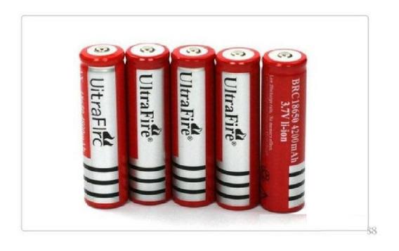 5 Baterias Ultrafire 18650 5800mah 3,7v Li-íon Para Lanterna