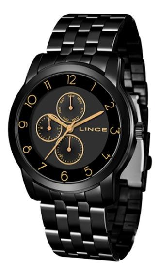 Relógio Lince Masculino E Feminino Preto Lmn4589l P2px