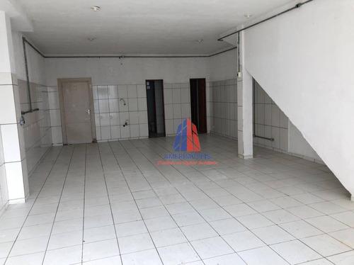 Salão Para Alugar, 100 M² Por R$ 1.100,00/mês - Parque Residencial Jaguari - Americana/sp - Sl0189